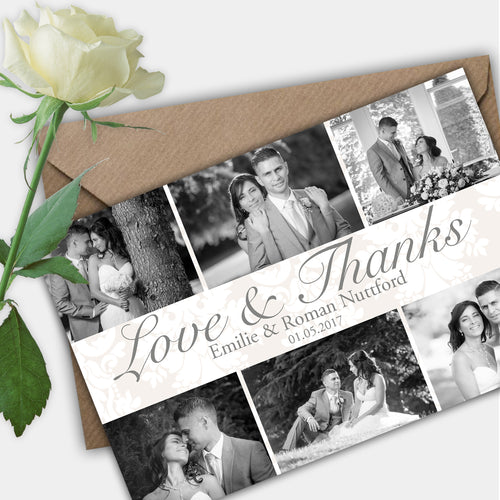 Photo Classic Wedding Thank You Cards - CLCDesigns