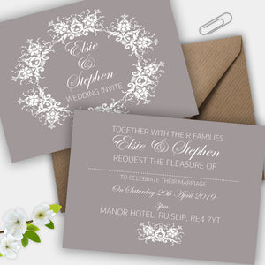 Simply Classic Wedding Invite - CLCDesigns