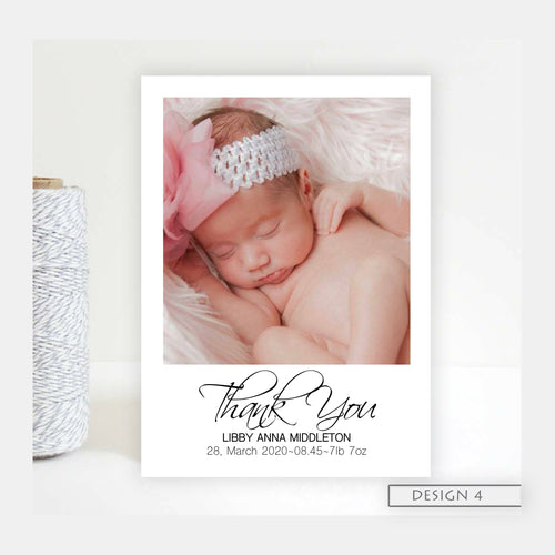 Basic photo Birth Announcement Thank You Cards