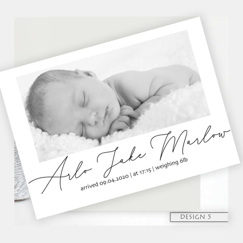 Simple photo Birth Announcement Thank You Cards