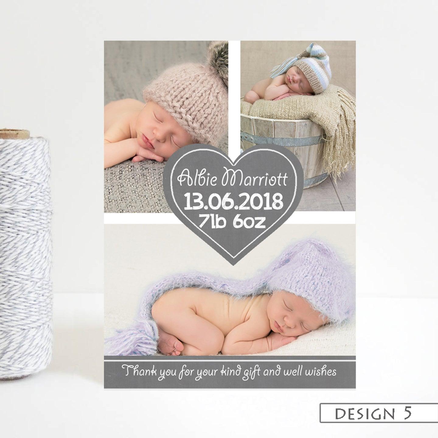 Photo Announcement Thank You Cards