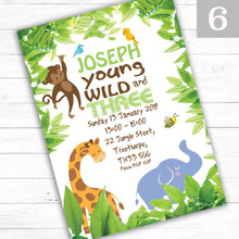 Load image into Gallery viewer, 'Jungle' Children's Birthday Party Invite - CLCDesigns