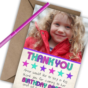 Girls 'Star' Photo Thank You Cards - CLCDesigns