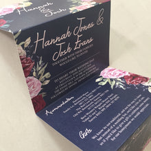 Load image into Gallery viewer, Vintage Floral Concertina Wedding Invite - CLCDesigns