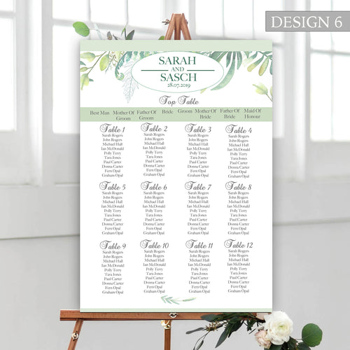 Botanical Wedding Seating Plan