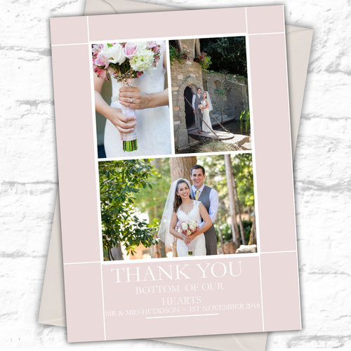Modern Personalised Photo Wedding Thank You Cards - CLCDesigns