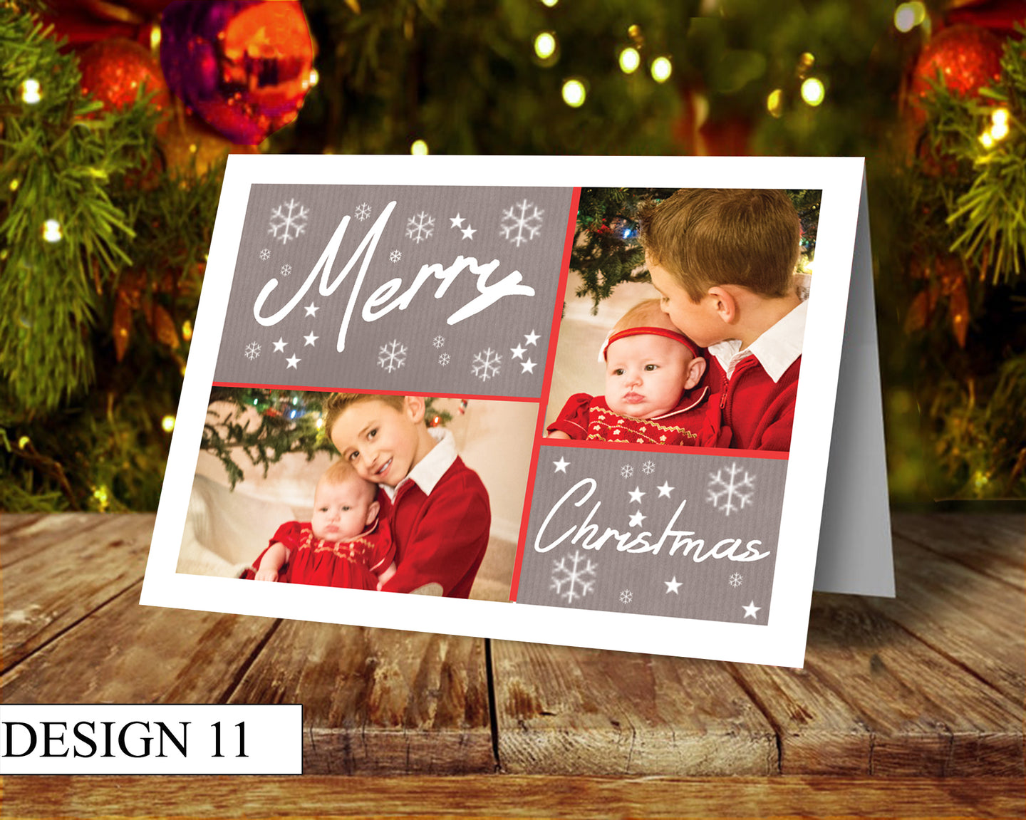 2 Photo Personalised Christmas Cards