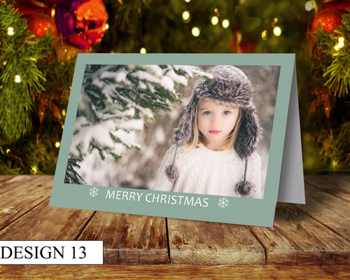 Simple Photo Personalised Christmas Cards