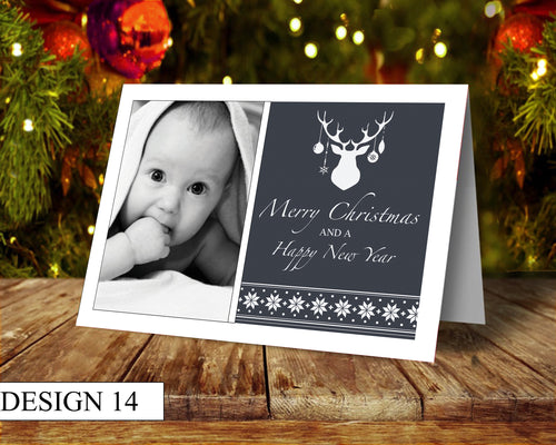 Stag Photo Personalised Christmas Cards