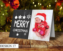 Load image into Gallery viewer, Merry Christmas Photo Personalised Christmas Cards