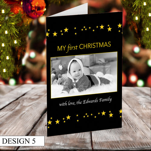 Starry Photo Personalised Christmas Cards