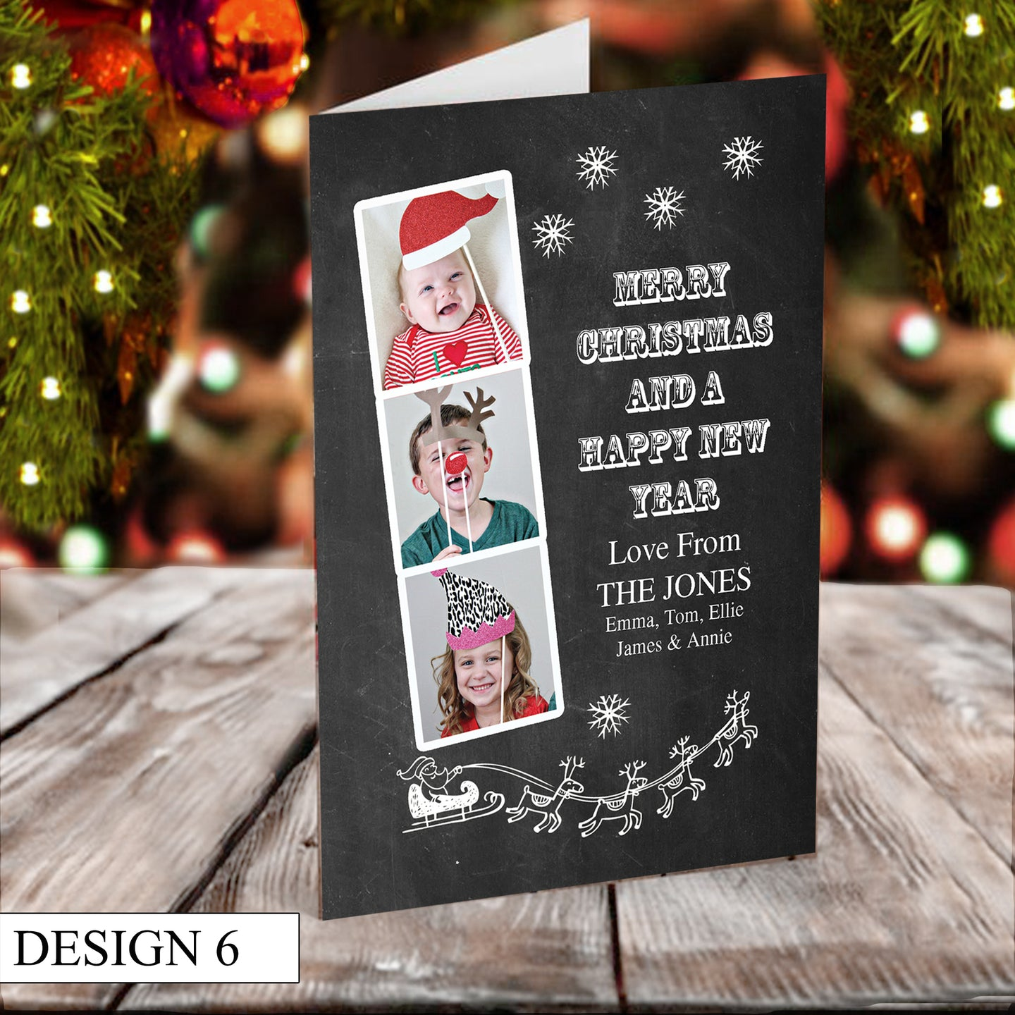 Photo Strip Personalised Christmas Cards