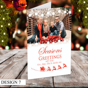 Photo Personalised Christmas Cards