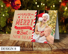 Load image into Gallery viewer, Kraft Photo Personalised Christmas Cards