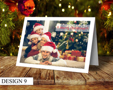 Load image into Gallery viewer, Full Photo Personalised Christmas Cards