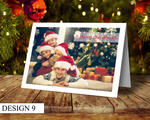 Full Photo Personalised Christmas Cards