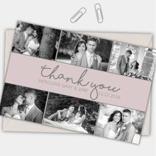 Load image into Gallery viewer, Photo Simple Personalised Photo Wedding Thank You Cards - CLCDesigns