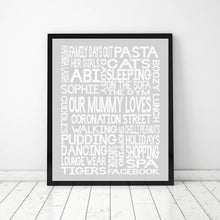 Load image into Gallery viewer, 'OUR MUMMY LOVES' Word Art Print