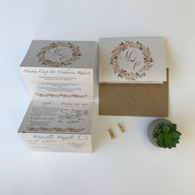 Load image into Gallery viewer, Vintage Blush Concertina Wedding Invites