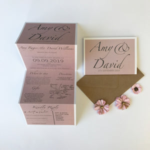 Classic Chic Wedding Concertina Invitation Invites Personalised Invitations Wedding Invites Any Colour