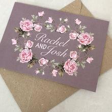 Load image into Gallery viewer, Dusky Pink Rose Wedding Invite Day or Evening