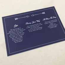 Load image into Gallery viewer, Navy Wedding Invite Day or Evening