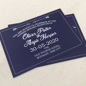 Navy Wedding Invite Day or Evening