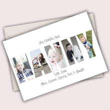 Load image into Gallery viewer, Mother's Day Personalised Folded Photo Word Card Any Word Made Of Your Photos