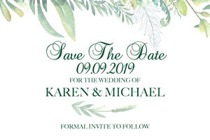 Botanical Save The Date Card