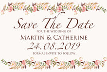 Load image into Gallery viewer, Floral Blush Save The Date Cards