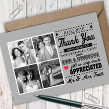 Load image into Gallery viewer, Retro Photo Wedding Thank You Cards - CLCDesigns