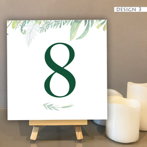 Botanical Table Number Cards