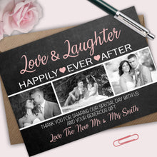 Load image into Gallery viewer, Happily Ever After Wedding Thank You Cards - CLCDesigns