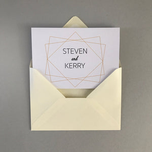 Geometric Pattern Concertina Invitation Invites Personalised Invitations Wedding Invites