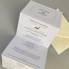 Load image into Gallery viewer, Geometric Pattern Concertina Invitation Invites Personalised Invitations Wedding Invites
