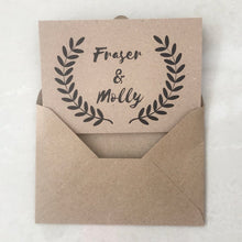 Load image into Gallery viewer, Kraft Recycled Concertina Invitation Invites Personalised Invitations Wedding Invites