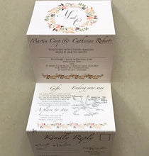 Load image into Gallery viewer, Vintage Blush Concertina Wedding Invites - CLCDesigns