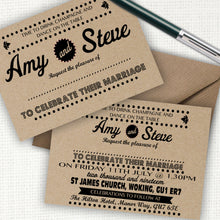 Load image into Gallery viewer, Retro Kraft Wedding Invite - CLCDesigns