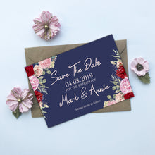 Load image into Gallery viewer, Vintage Floral Save The Date Cards