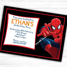 Load image into Gallery viewer, Spider Man Children's Birthday Party Invite - CLCDesigns