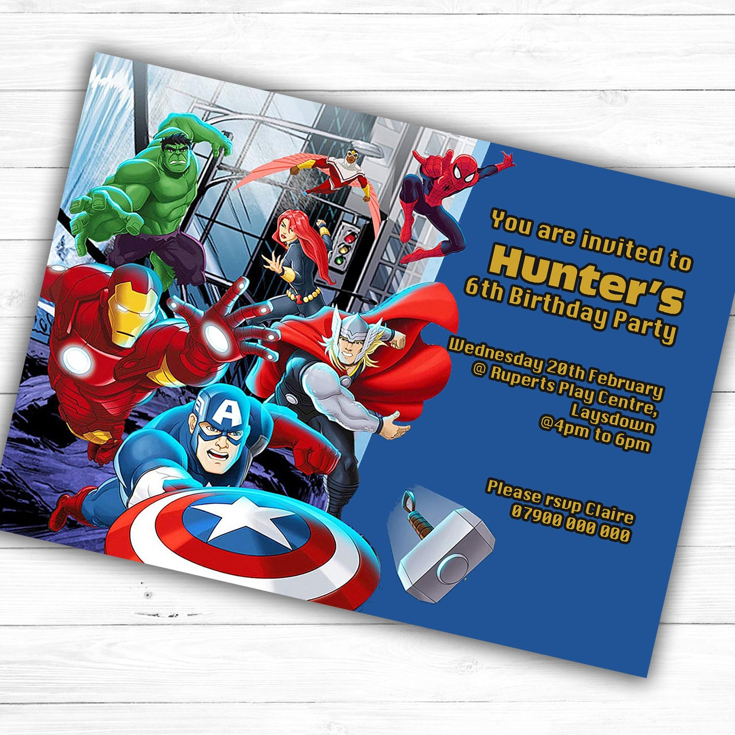 The Avengers Children's Birthday Party Invite - CLCDesigns