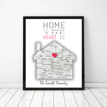 Load image into Gallery viewer, Home is where the heart is