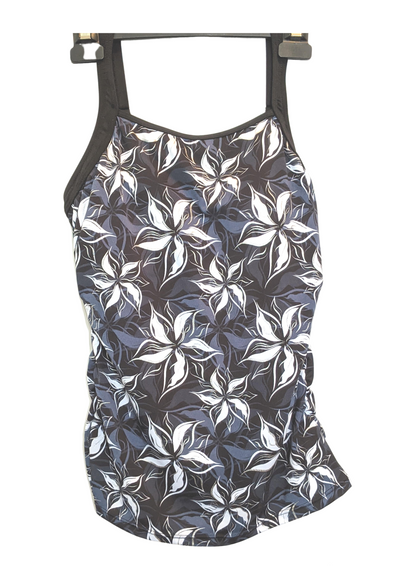 Poolproof Bloom Chlorine Resistant Ruched Singlet Top