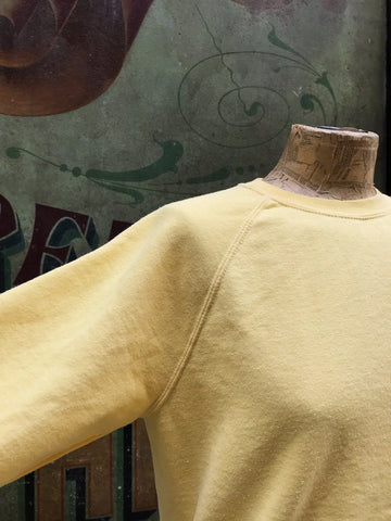 Hand-dyed Beasley Sweatshirt - YELLOW