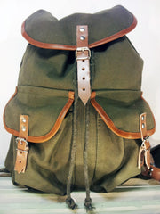 Two Pocket Canvas Rucksack
