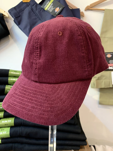 Cord Unstructured Cap - BURGUNDY