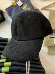 Cord Unstructured Cap - Black