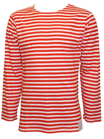 Russian Naval Longsleeve T-shirt - Red and White Stripe