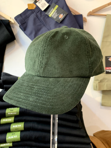 Cord Unstructured Cap - Green