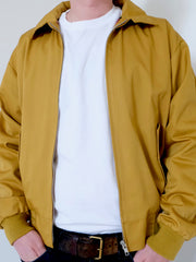 Relco Harrington Jacket With Tartan Lining - MUSTARD
